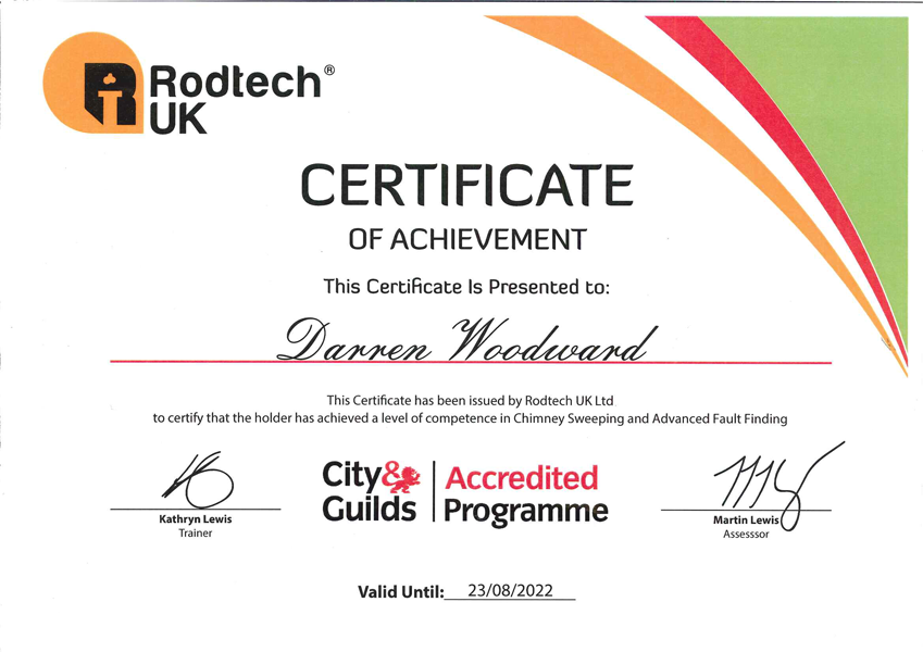Rodtech City & Guilds Accredited programme - Competence in Chimney sweeping & Advanced Fault finding